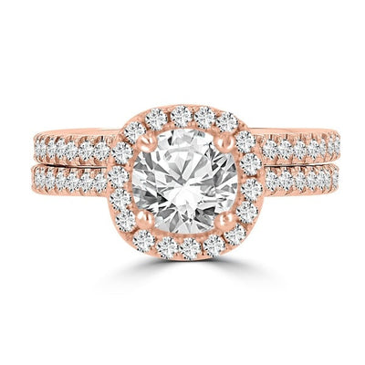 14k Rose Gold Diamond 1 3/4ct TDW Bridal Set