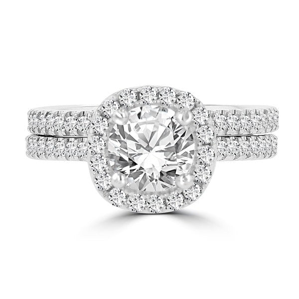 14k White Gold Diamond 1 3/4ct TDW Bridal Set