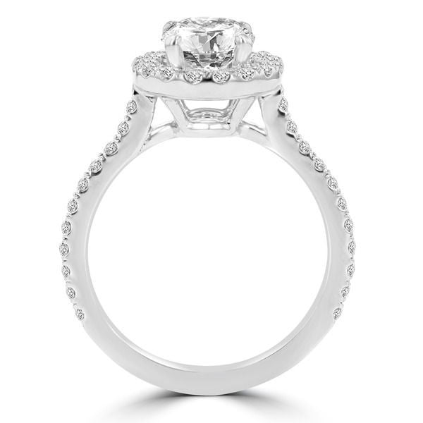 14k White Gold Diamond 1.55ct TDW Halo Engagement Ring