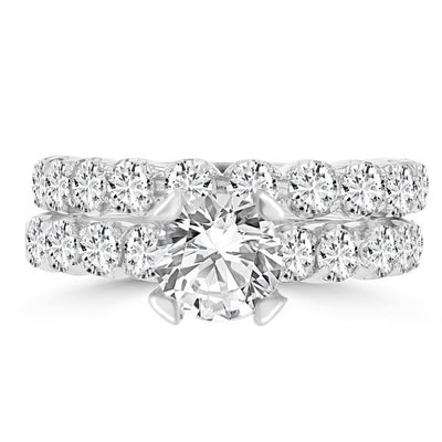 14k White Gold Diamond 3 2/5ct TDW Bridal Set