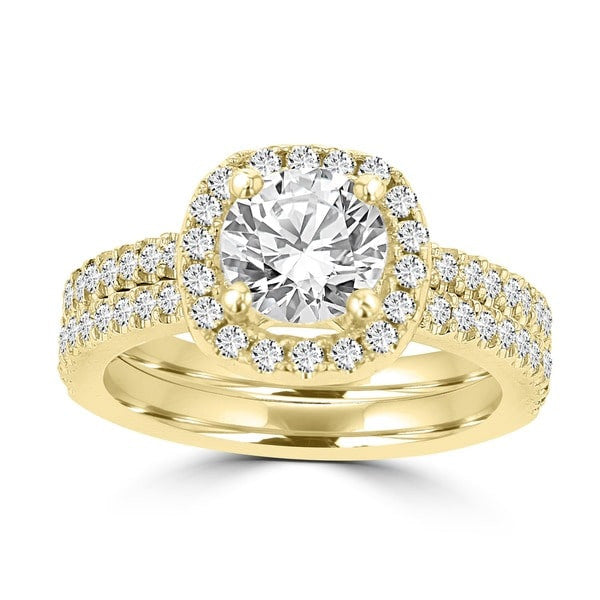 14k Yellow Gold Diamond 1 3/4ct TDW Bridal Set