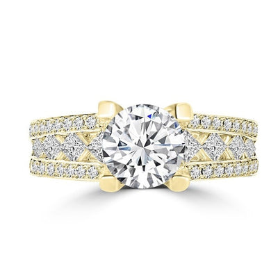 14k Yellow Gold 1.95ct TDW La Vita Vital Engagement Ring