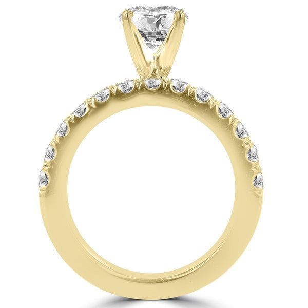 14k Yellow Gold 3 1/5ct TDW Diamond Engagement Ring