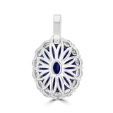 18K White Gold Tanzanite 10.21cts & Diamond 1.22cts TDW Pendant