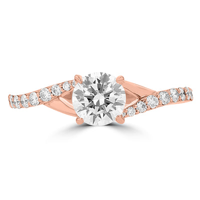14k Rose Gold Diamond 7/8ct TDW Engagement Ring