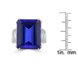 18K White Gold Tanzanite 22.70cts & Diamond 3.50cts (VS2, G) Ring