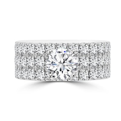 14k White Gold 3 1/5ct TDW Diamond Engagement Ring