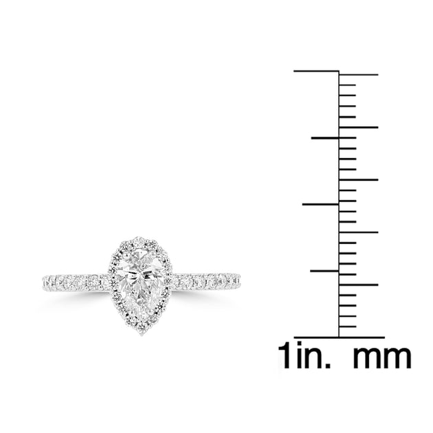 14K White Gold Diamond 1.00ct TDW Engagement Ring