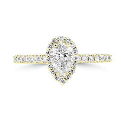 14K Yellow Gold Diamond 1.00ct TDW Engagement Ring