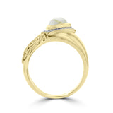 14K Yellow Gold ring with Gold Quartz 1.38cts and Diamond 0.16ct TDW (SI1-VS, G-H)