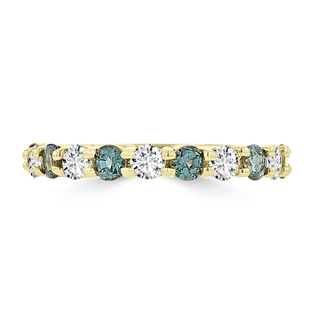 14K Yellow Gold 1/4ct TGW Alexandrite and 1/3ct TDW Diamond Ring (G-H, SI1-SI2) by La Vita Vital