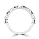 14K White Gold 1/4ct TGW Alexandrite and 1/3ct TDW Diamond Ring