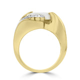 14K Yellow Gold & Gold Quartz 4.15cts and Diamond 0.22ct TDW (SI1-VS, G-H) Ring