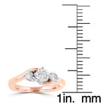 14K Two tone Gold and Diamond 0.70ct Engagement Ring
