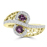 18K Yellow Gold, Fine Brazilian Alexandrite 0.50cts & Diamond 0.20cts TDW (SI1-VS, G-H) Ring by La Vita Vital