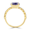 14K Yellow Gold Tanzanite 2.35ct TGW & Diamond 0.30ct