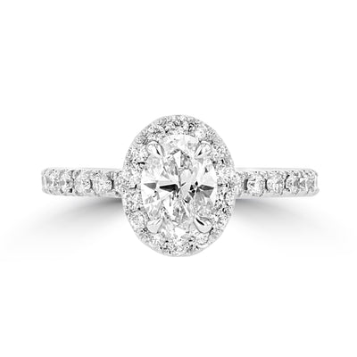 14K White Gold Diamond 1.35cts TDW Engagement Ring