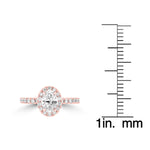 14K Rose Gold Diamond 1.35cts TDW Engagement Ring