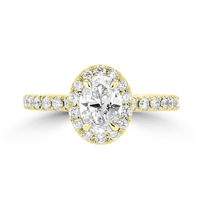 14K Yellow Gold Diamond 1.35cts TDW Engagement Ring