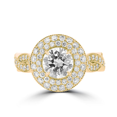 14K Yellow Gold Diamond 3.55cts TDW Engagement Ring