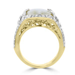 14K Yellow gold, Gold Quartz 5.18cts and Diamond 0.65cts TDW (SI1-VS, G-H) Ring