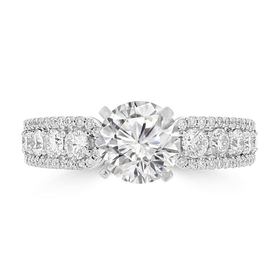 14K White Gold Diamond 1.85cts TDW Engagement Ring