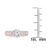14K Rose Gold Diamond 1.85cts TDW Engagement Ring