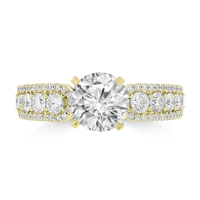 14K Yellow Gold Diamond 1.85cts TDW Engagement Ring