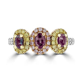 18K Gold, Brazilian Alexandrite 0.76cts & Diamond 0.64cts TDW (SI1-VS, G-H) Ring by La Vita Vital