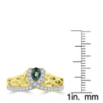 18K Yellow Gold, Fine Brazilian Alexandrite 0.20cts & Diamond 0.15cts TDW (SI1-VS, G-H) Ring by La Vita Vital