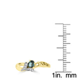18K Yellow Gold 1/4ct Oval-cut Brazilian Alexandrite and Diamond Ring (G-H, SI1-SI2) by La Vita Vital