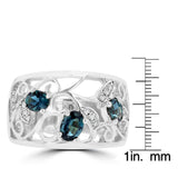 18K White Gold 0.80ct Brazilian Alexandrite and Diamond Ring (VS-SI1, G-H) by La Vita Vital