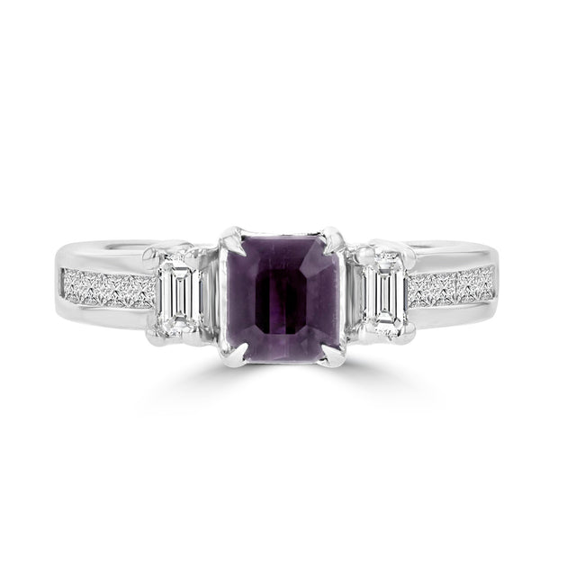 18k White Gold Brazilian Alexandrite and 5/8ct TDW Diamond (SI1-VS, G-H) Ring by La Vita Vital