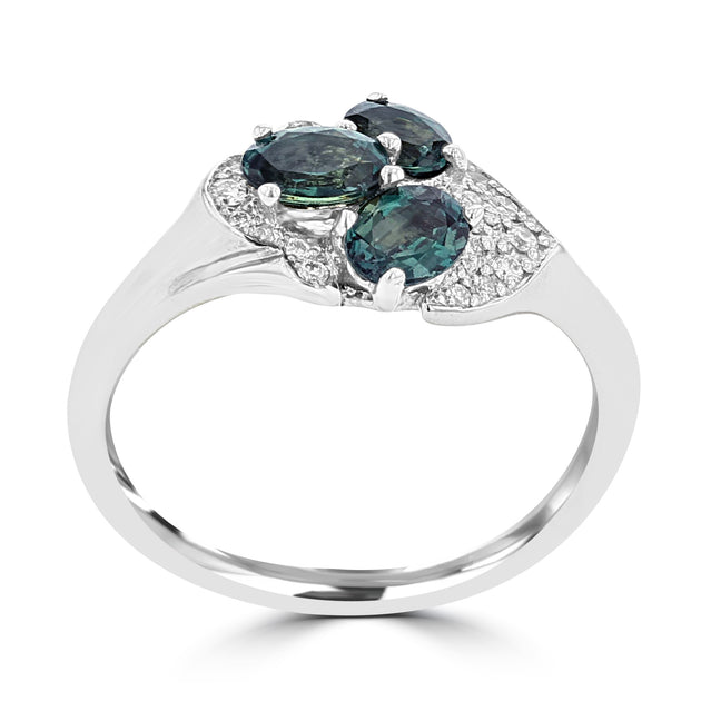 18K White Gold, Brazilian Alexandrite 1.00cts & Diamond 0.10cts (SI1-VS, G-H) Ring by La Vita Vital