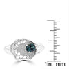 18K White Gold, Brazilian Alexandrite 0.55cts & Diamond 0.12cts TDW (SI1-VS, G-H) Ring by La Vita Vital