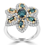 18K White Gold 1.64ct TGW Brazilian Alexandrite and Diamond 0.61cts Cocktail Ring (SI1-VS, G-H) by La Vita Vital