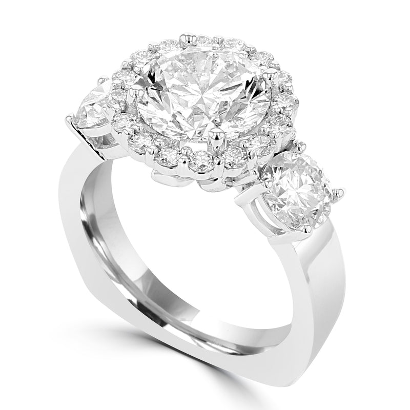 14K White Gold Diamond 5.25cts TDW Engagement Ring