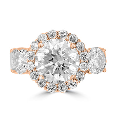 14K Rose Gold Diamond 5.25cts TDW Engagement Ring