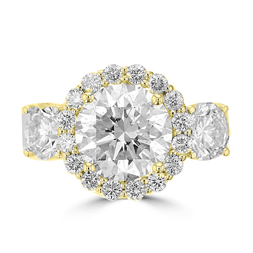 14K Yellow Gold Diamond 5.25cts TDW Engagement Ring