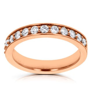 14k Rose Gold Diamond 1/3ct TDW Wedding Band