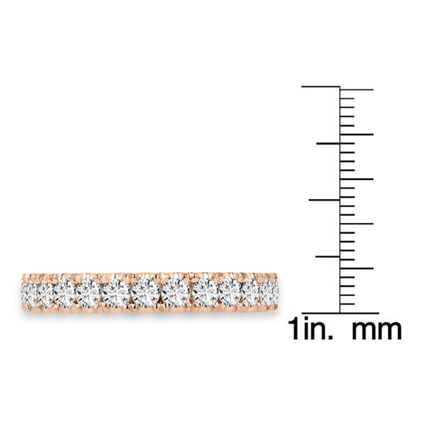 14K Rose Gold Diamond 3/4ct TDW Wedding Band