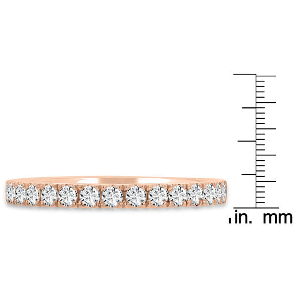 14K Rose Gold Diamond 0.55ct TDW Wedding Band