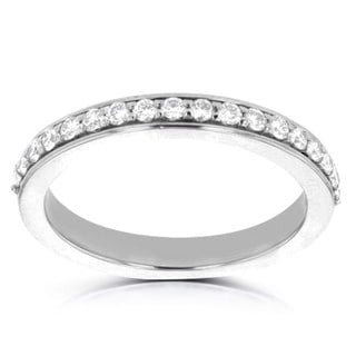 14K White Gold Diamond 0.30cts TDW Wedding Band