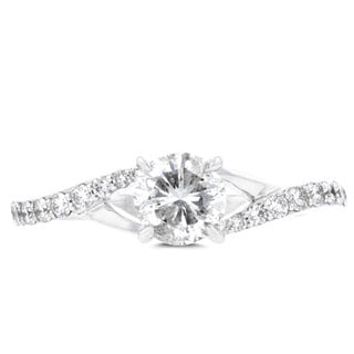 14K White Gold 1.30cts TDW Engagement Ring