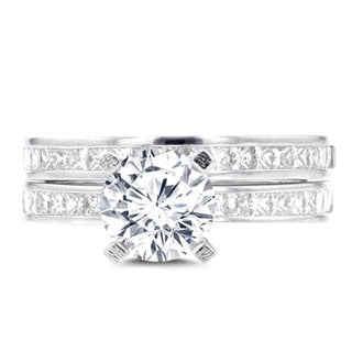 14K White Gold 2.05ct. TDW Diamond Bridal Set