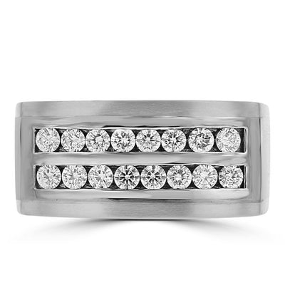 14k White Gold Men's 0.80cts TDW Diamond Ring
