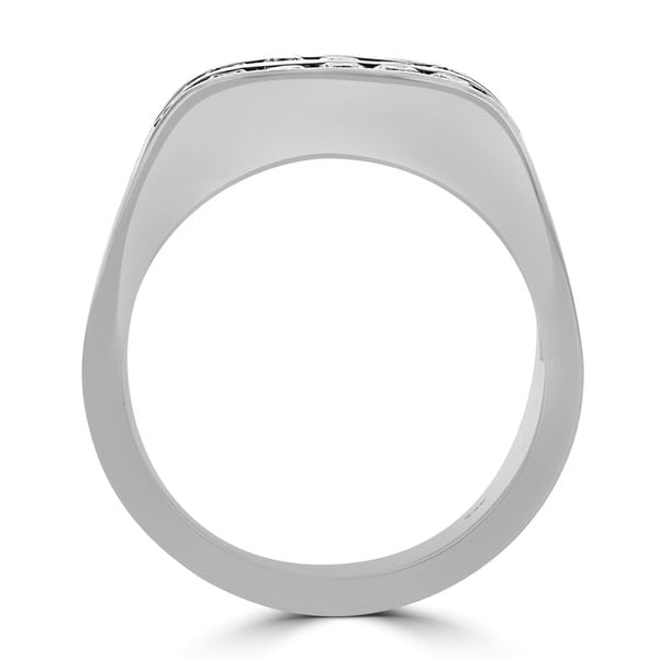 14k White Gold Men's 1.00ct TDW Diamond Ring