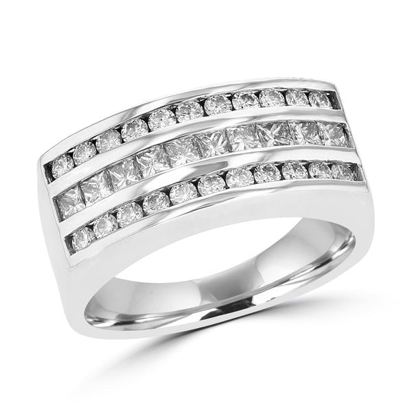 14K White Gold Men's Diamond 1.55cts TDW Ring