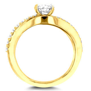 14k Yellow Gold 7/8ct TDW La Vita Vital Engagement Ring
