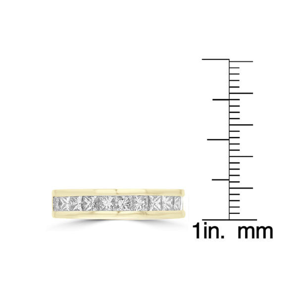 14K Yellow Gold 1.85ct TDW Princess Cut Diamond Wedding Band